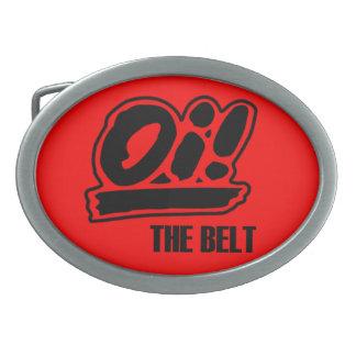 ¡Oi ¡La hebilla del cinturón Hebillas De Cinturon Ovales