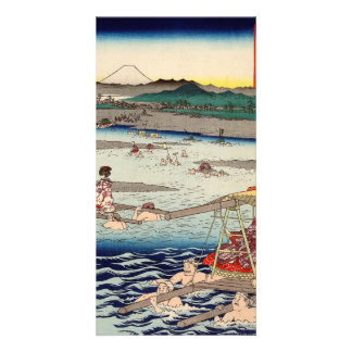 Ōi River between Suruga and Tōtōmi Provinces Card