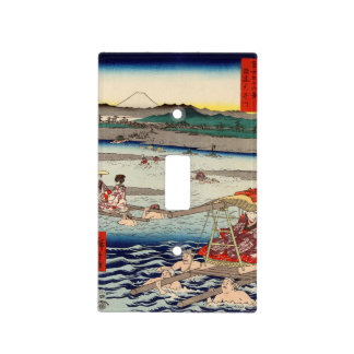 Ōi River between Suruga and Tōtōmi Provinces Light Switch Cover