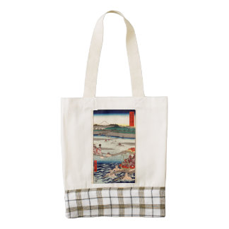 Ōi River between Suruga and Tōtōmi Provinces Zazzle HEART Tote Bag