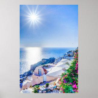 oia-417822 oia-417822 oia santorini summer greece poster