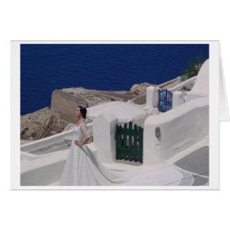 Oia, Santorini 2001 - Bride and gates Card