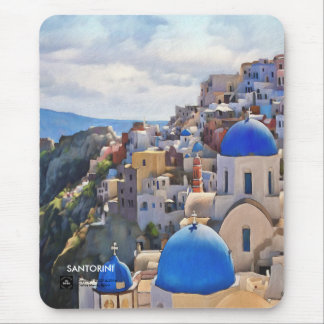 Oia, Santorini. Greece.Oil Painting. Gift Mousepad