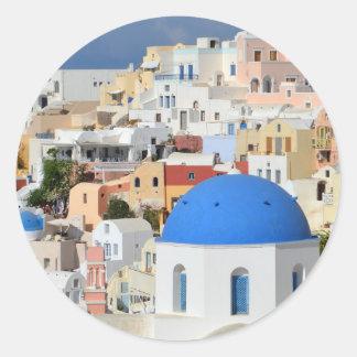 Oia Santorini Stickers