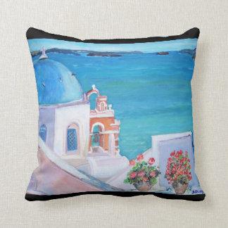 Oia, Santorini - Throw Pillow