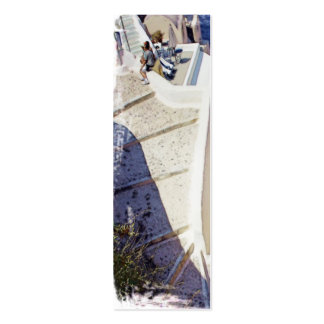 Oia Stairs, Santorini Bookmark Double-Sided Mini Business Cards (Pack Of 20)