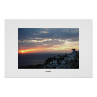 Oia Sunset Poster