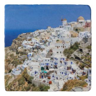 Oia village on Santorini island, north, Greece Trivet