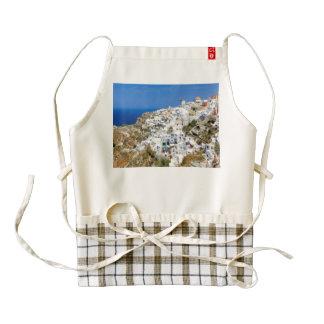 Oia village on Santorini island, north, Greece Zazzle HEART Apron