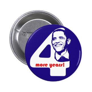 OIbama botón de cuatro más años Pin