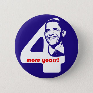 OIbama Four More Years Button