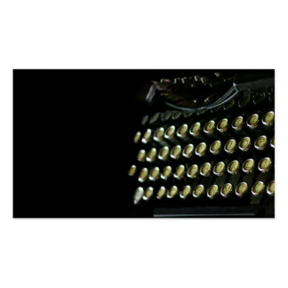 OId typewriter keyboard business card