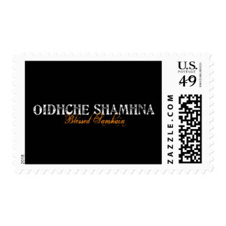 Oidhche Shamhna: Blessed Samhain Postage Stamp