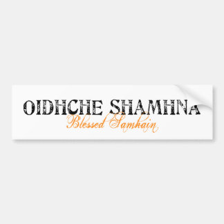 Oidhche Shamhna: Samhain bendecido Pegatina De Parachoque