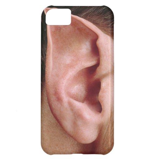 Oído acentuado divertido funda para iPhone 5C