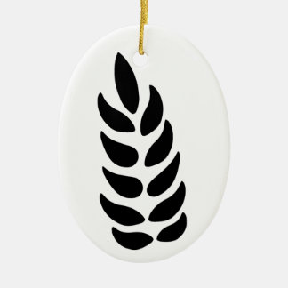Oído del trigo adorno navideño ovalado de cerámica