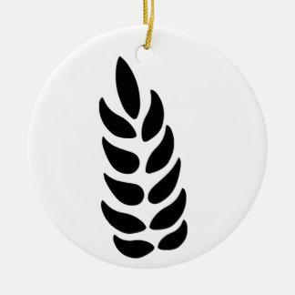 Oído del trigo adorno navideño redondo de cerámica
