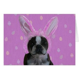 Oídos 2 del conejito tarjeta de felicitación