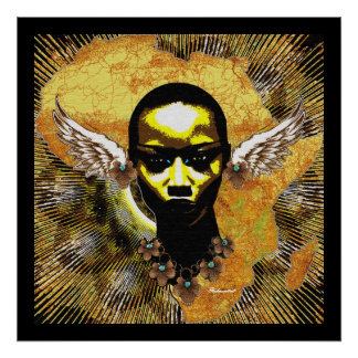 Oídos africanos del ala del ángel posters
