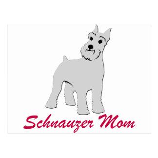 Oídos cosechados mamá del Schnauzer Postal