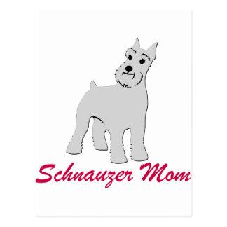 Oídos cosechados mamá del Schnauzer Postales