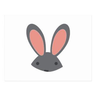 Oídos de conejo tarjeta postal