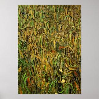Oídos de la bella arte de Van Gogh del trigo Póster