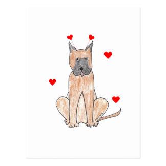 Oídos de la tarjeta del día de San Valentín de Postal