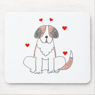 Oídos de la tarjeta del día de San Valentín de St  Tapetes De Ratón