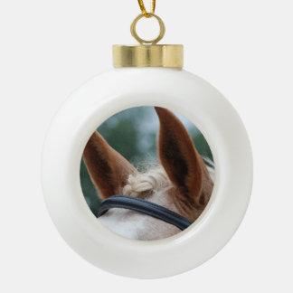 oídos del caballo adorno de cerámica en forma de bola