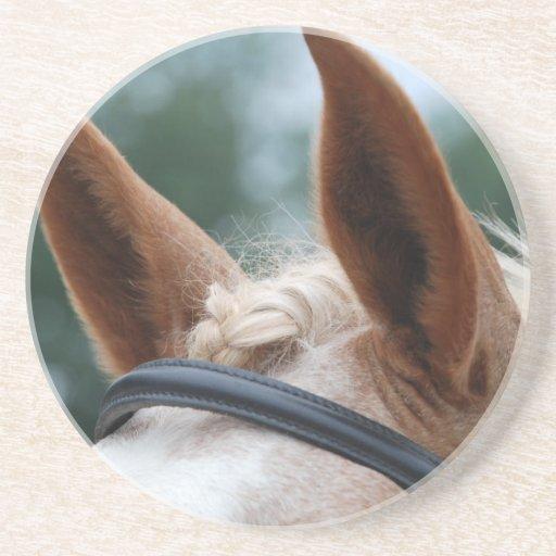 oídos del caballo posavasos para bebidas