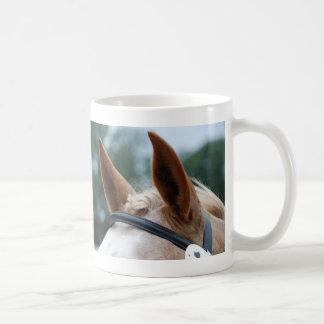 oídos del caballo taza de café