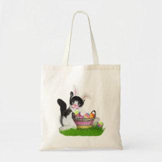 Oídos del conejito del gatito de Pascua que llevan Bolsa Tela Barata