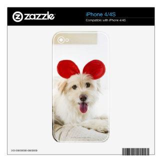 Oídos del juguete del perro que llevan en cama skin para el iPhone 4S