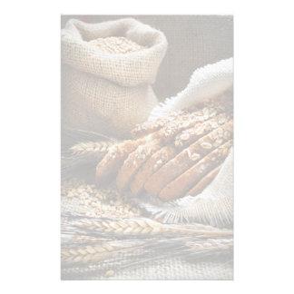 Oídos del pan y del trigo papelería personalizada