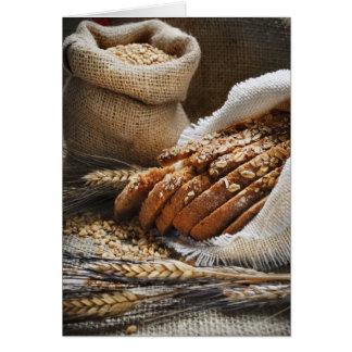 Oídos del pan y del trigo tarjeta de felicitación