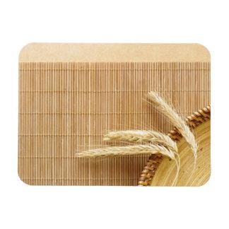 Oídos del trigo en la placa de madera iman flexible