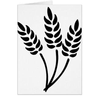 Oídos del trigo tarjeta de felicitación