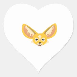 Oídos grandes pegatinas de corazon