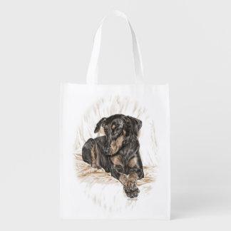 Oídos naturales del perro del Doberman Bolsa De La Compra