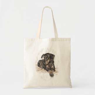 Oídos naturales del perro del Doberman Bolsa Tela Barata