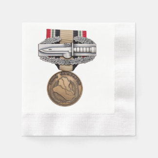 OIF Combat Action Badge Paper Napkin