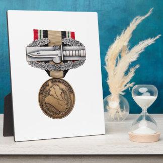 OIF Combat Action Badge Display Plaque