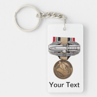 OIF Combat Action Badge Single-Sided Rectangular Acrylic Keychain