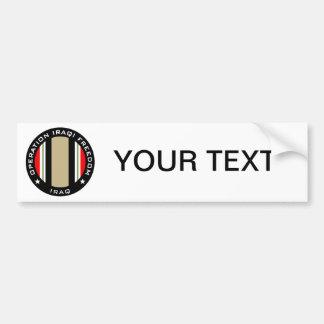 OIF Iraq Bumper Sticker