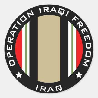 OIF Iraq Classic Round Sticker
