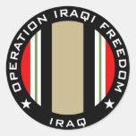 OIF Iraq Etiquetas Redondas