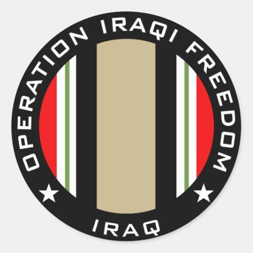 OIF Iraq Round Stickers
