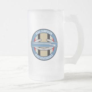 OIF Iraqi Governance CIB Frosted Glass Beer Mug