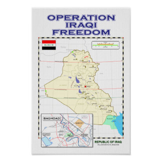 OIF - Poster del mapa de Iraq